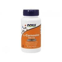 L-Карнозин L-Carnosine 500 мг NOW Foods, 50 капсул